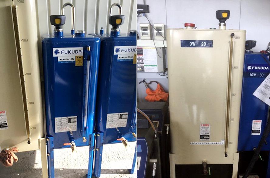 Enevoの液体用センサーをオイルタンクに設置して残量計測しています