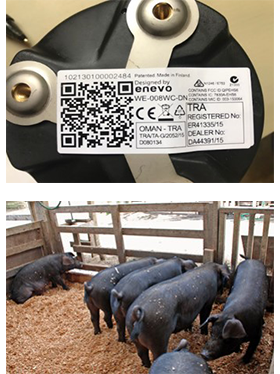畜産飼料の遠隔監視、配達に利用